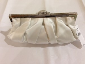 Judith Leiber Satin Handbag White Clutch