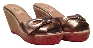 Valentino Champagne Gold Wedges