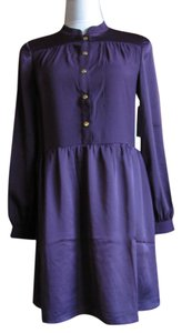Juicy Couture Lined Snap Longsleeve Logo Polyester Dress