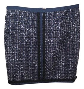 Tory Burch Mini Skirt Navy tweed