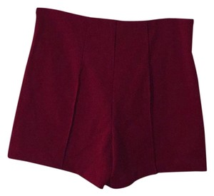 Forever 21 Dress Shorts Burgundy
