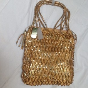 Ocean Kids Tote in Metallic gold & green