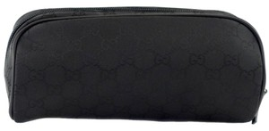 Gucci New 277649 Women's Nylon GG Guccissima Cosmetic Makeup Case Bag, Black