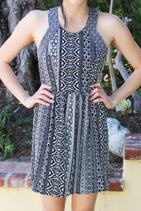 American Eagle Outfitters short dress Black/White Black & White Patterned on Tradesy