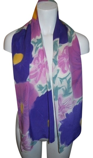 Preload https://item4.tradesy.com/images/pink-and-purple-print-painted-silk-scarfwrap-1703208-0-0.jpg?width=440&height=440