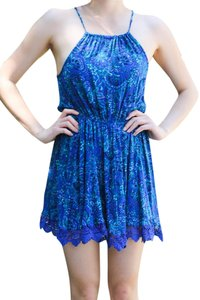 Urban Outfitters short dress Blue Ecote Patterned Sundress on Tradesy