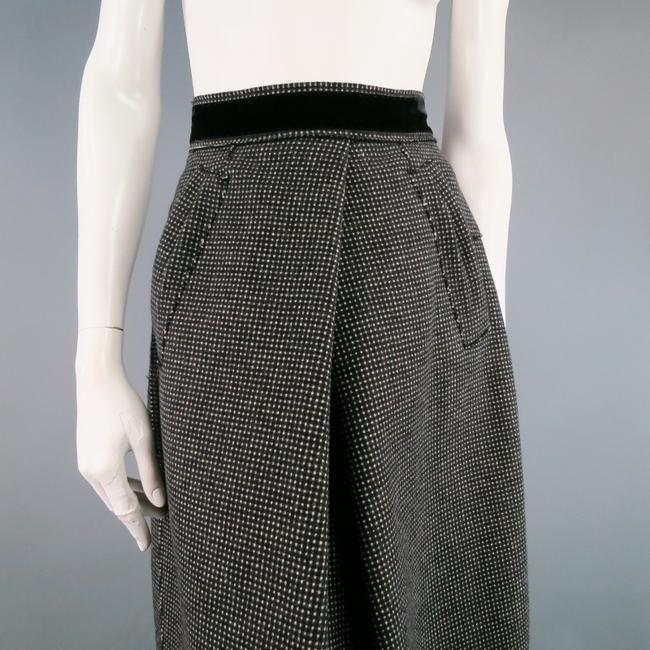 Marc Jacobs Texture Raw Edge Pleat Fall Long Skirt