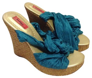 Nordstrom Teal Wedges