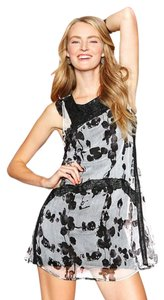 Desigual short dress Blk Wht Artsy Spain Lace on Tradesy
