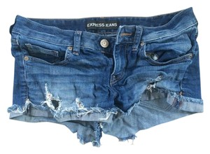 Express Cut Off Shorts Blue