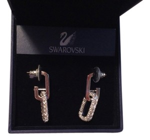 Swarovski Swarovski Rhinestone hanging hoop earrings