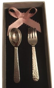 peruvian sterling silver Baby Fork and Spoon Set in .950 Sterling silver
