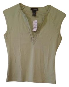 Express V-neck Lace T Shirt Lime green