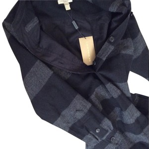 Burberry Brit short dress Dark Grey Melange & Navy Blue on Tradesy