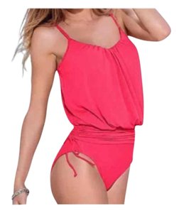 Other New Melon Pink one piece swimsuit w/ cute ties on both sides Size small