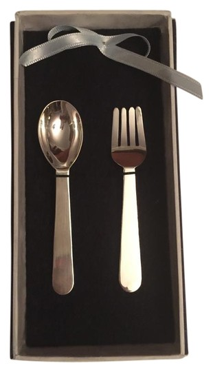 Baby fork and spoon set in 950 tradesy for Sterling silver baby spoon and fork