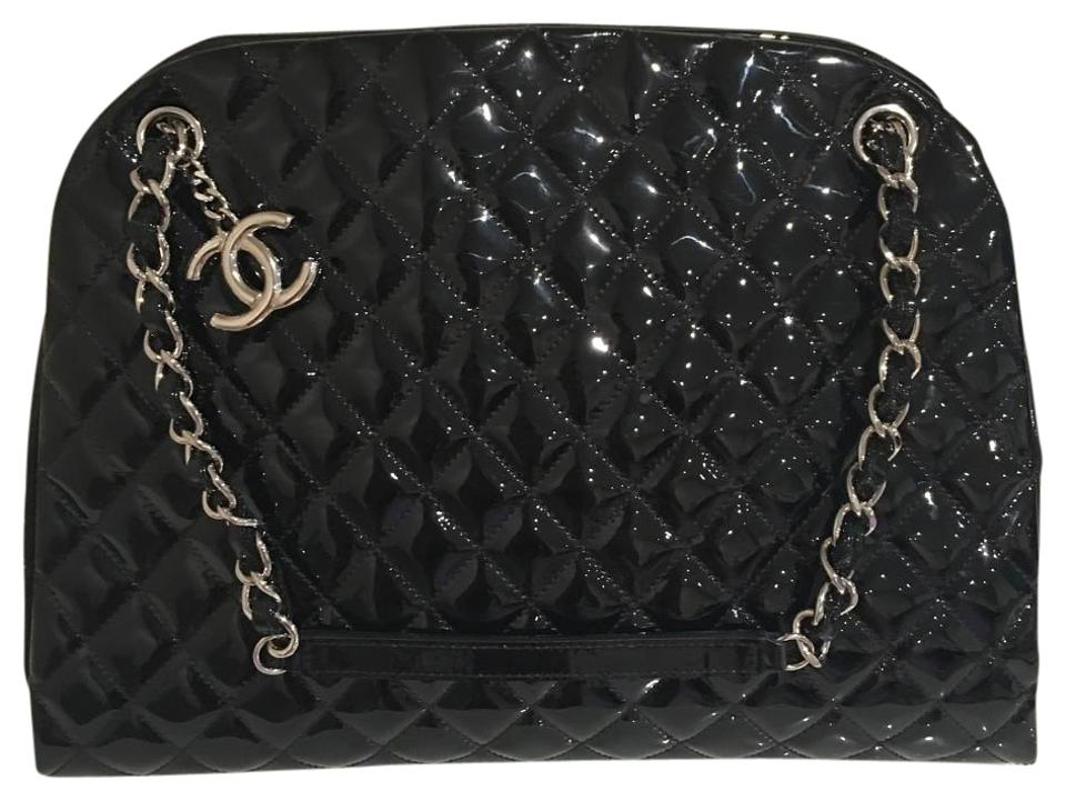 b019e0d6b06b Chanel Mademoiselle Bowler A50558 Black Patent Leather Shoulder Bag ...