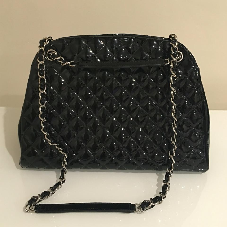 33e20c8ce72e84 Chanel Mademoiselle Bowler A50558 Black Patent Leather Shoulder Bag ...