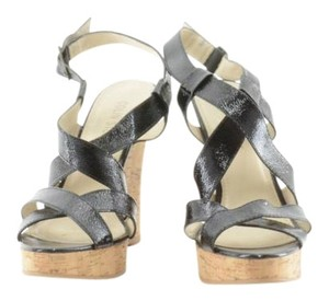 Colin Stuart Sandals Cork Cork Sandals Black Wedges