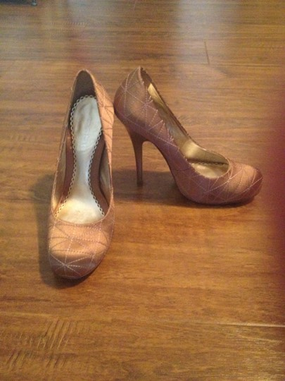 bebe Gold/Champagne Pumps