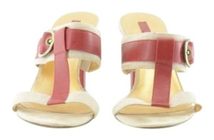 Jones New York Sandals Sandals Canvas Red and Cream Mules