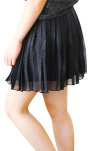 BCBGeneration Sparkle Pleated Mini Skirt Black