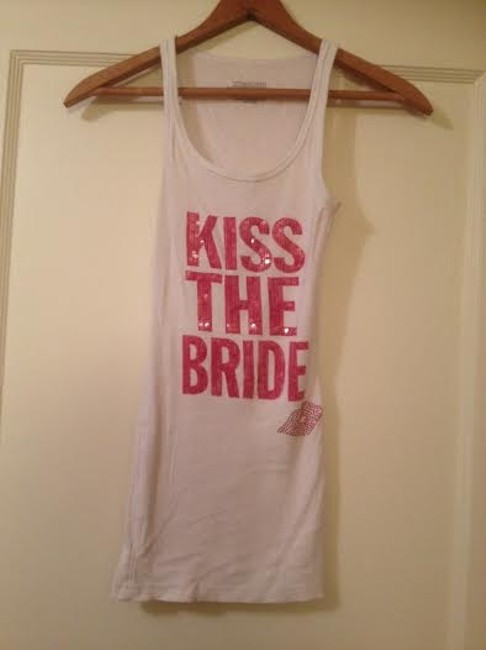Item - Sequin Price Dropped Kiss The Bride Tank Top