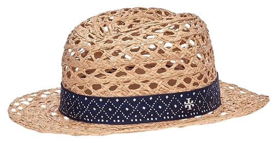 Preload https://img-static.tradesy.com/item/17033491/tory-burch-beige-perforated-fedora-natural-navy-with-silk-twill-hat-0-1-540-540.jpg