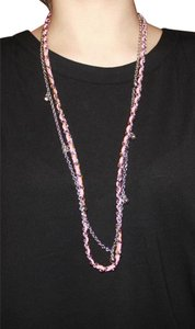 Ann Taylor Long Neon Pink Chain Necklace