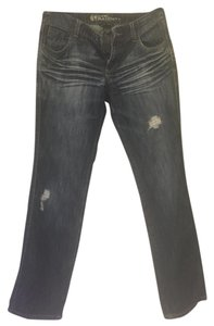 New York & Company Boyfriend Cut Jeans-Distressed