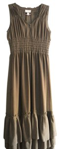Brown Maxi Dress by Romeo & Juliet Couture Ruffle Maxi V-neck