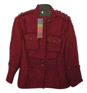 Tory Burch Melange Russian Red and Barley Blazer