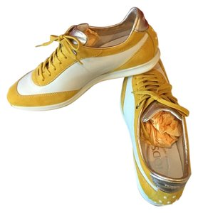 Tod's Leather Suede Premium Sneaker Extra Lace Super Soft Yellow/Gold Athletic