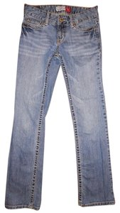 Aropostale Stretchy Worn Out Skinny Boot Cut Jeans-Distressed