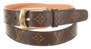 Louis Vuitton Brown, black, tan LV monogram Louis Vuitton belt S Small