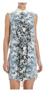 Alexander Wang short dress White and Blue Floral on Tradesy