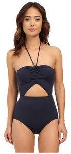 Michael Kors MICHAEL Michael Kors Draped Solids Halter Maillot One-Piece
