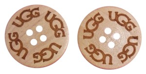 UGG Australia TWO (2) Sand UGG Replacement Buttons, Extra, Spare Button for Boots, Bailey, Cardy, Triplet (Natural)