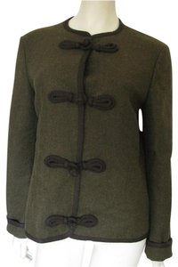 Michael Kors Tassel Frog Closure Wool Cashmere Blend Size 10 M Military Jacket