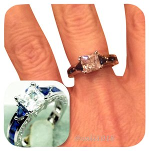 SUMMER CLEARANCE New Blue And White Sapphire 10k GF