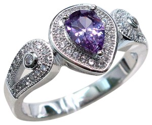 9.2.5 Gorgeous amethyst and white sapphire royal cocktail ring size 8