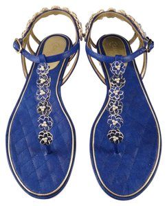Chanel Camellia blue Sandals