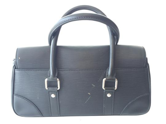 Louis Vuitton Epi Leather Leather Satchel in Black