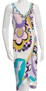 Emilio Pucci V-neck Print Monogram Sleeveless Dress