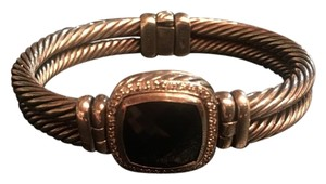 David Yurman Albion Black Onyx & Diamond Bracelet