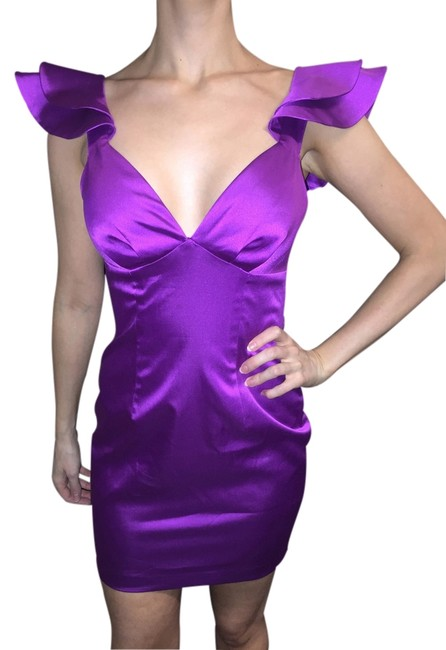 Preload https://item3.tradesy.com/images/blue-juice-satin-mini-cocktail-dress-purple-1703682-0-0.jpg?width=400&height=650