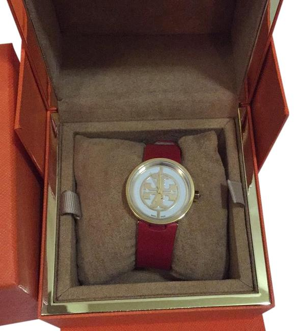 Item - Red/Gold Leather Strap Watch
