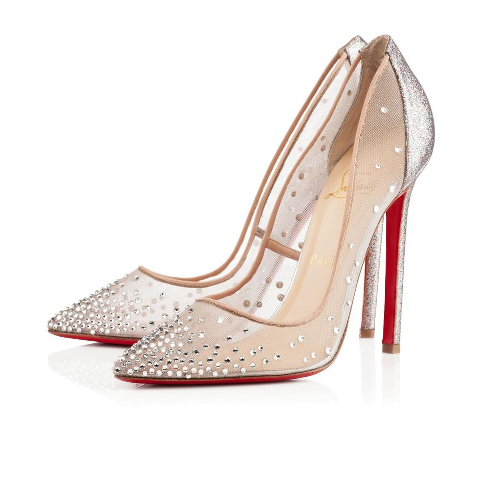 retail prices 121b8 d66c9 Christian Louboutin Multicolor Follies Strass 100mm - Wedding Pumps Size US  7 21% off retail