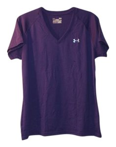 Under Armour Active Wear Semi-fitted T Shirt Purple