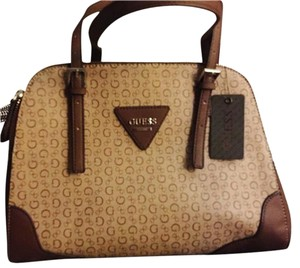 Guess Organized Multi Function Multi Pocket Satchel in Mocha
